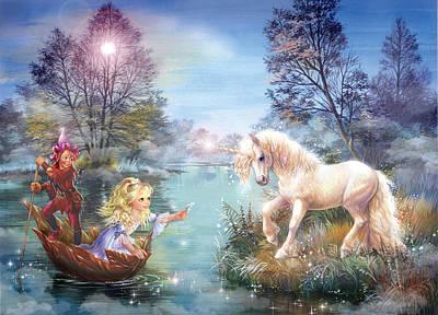 Magical Photograph - Unicorns Lake by Zorina Baldescu