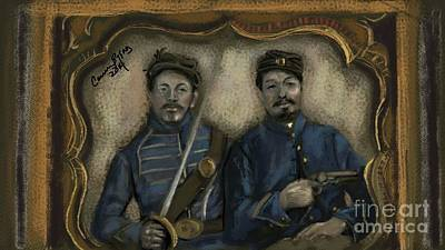 Unidentified Union Soldiers Print by Carrie Joy Byrnes