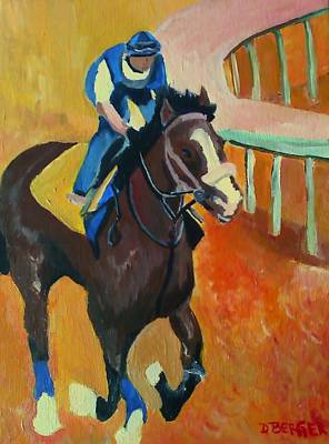 Belmont Stakes Painting - Union Rags Kentucky Derby  by Darlene Berger