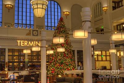 Colorado Christmas Photograph - Union Station At Christmas by Juli Scalzi