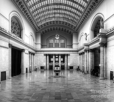 Union Station In Black And White Print by Twenty Two North Photography