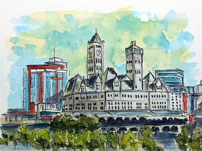 Nashville Painting - Union Station Nashville by Tim Ross