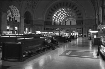 Window Bench Photograph - Union Station Washington D.c. - 1963 by Mountain Dreams
