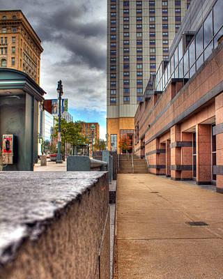 Streetlight Photograph - Unique City View by Tim Buisman