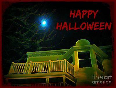 Creepy Card Mixed Media - Unique Halloween by John Malone