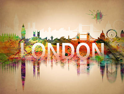 Cities Digital Art - United Kingdom by Mark Ashkenazi