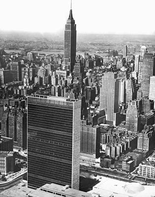 Empire State Photograph - United Nations Building by Underwood Archives
