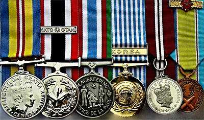 United Nations Peacekeeping Korean War Nato Medals Print by Danielle  Parent