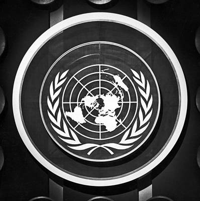 Single Object Photograph - United Nations Symbol by Underwood Archives