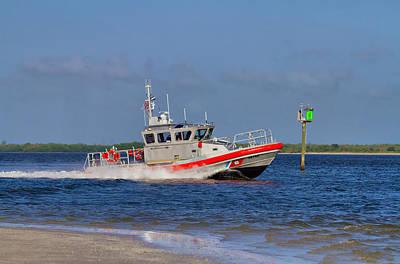 Raft Photograph - United States Coast Guard by Kim Hojnacki