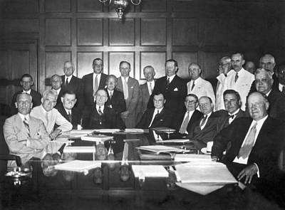 United States Industry Leaders Print by Underwood Archives