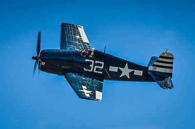 F6f Photograph - United States Navy Grumman F6f Hellcat by Puget  Exposure