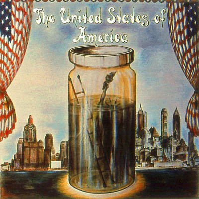 Album Covers Drawing - United States Of America - Cover Art by Art America Online Gallery