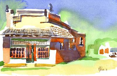 Store Fronts Painting - United States Post Office by Kip DeVore