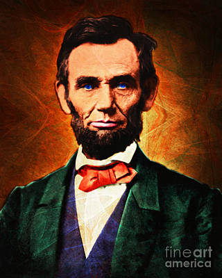 United States President Abraham Lincoln 20140914 Print by Wingsdomain Art and Photography