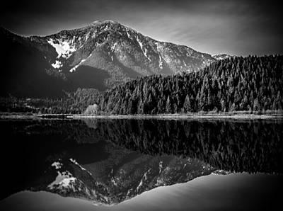 Mountainous Photograph - United We Stand - Black And White by Eva Kondzialkiewicz