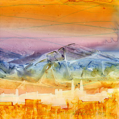 Watercolor Painting - Unity - 2 by Yevgenia Watts