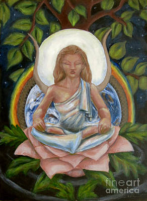 Yggdrasil Painting - Universal Goddess by Samantha Geernaert
