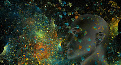 Fractal Digital Art - Universal Mind by Betsy Knapp