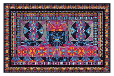 Kokopelli Painting - Universe In Dance by Lawrence Chvotzkin