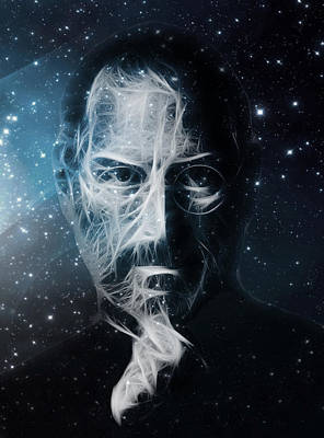 Apple Digital Art - Universe Of Steve Jobs by - BaluX -