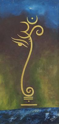 Ganesha Painting - Universe by Usha Rai