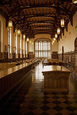 Oklahoma University Photograph - University Library by Andrew Soundarajan