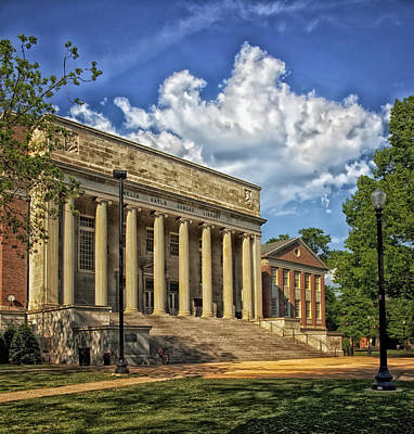 University Of Alabama Library Print by Mountain Dreams