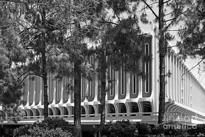 University Of California Irvine Langson Library Print by University Icons