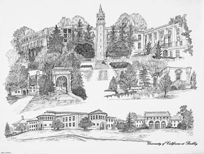 Berkley Digital Art - University Of California At Berkely by Liz  Bryant