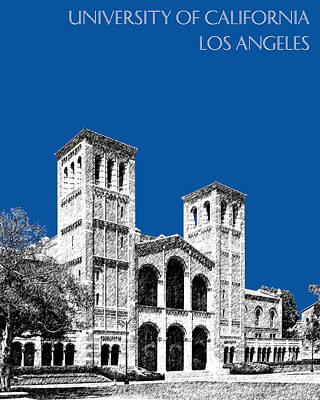 University Of California Digital Art - University Of California Los Angeles - Royal Blue by DB Artist