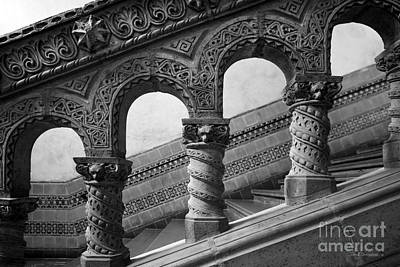 University Of California Photograph - University Of California Los Angeles Powell Library Stairway by University Icons