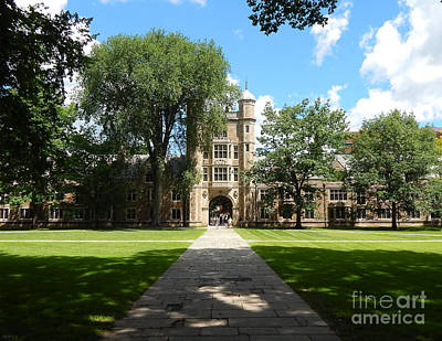 University Of Michigan Digital Art - University Of Michigan Law Quad by Phil Perkins