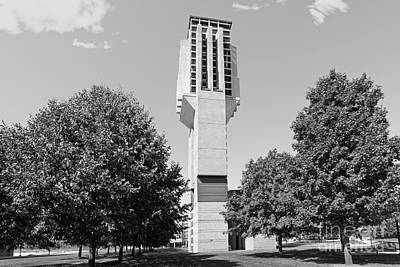 University Of Michigan Lurie Bell Tower Print by University Icons