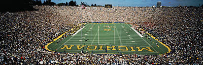 University Of Michigan Stadium, Ann Print by Panoramic Images