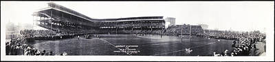 University Of Pittsburgh Vs W And J College Forbes Field Pittsburgh Pa 1915 Print by Bill Cannon