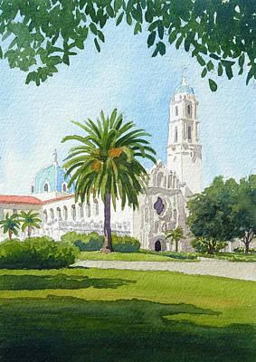 University Of Illinois Painting - University Of San Diego by Mary Helmreich