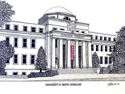 University Of South Carolina Print by Frederic Kohli