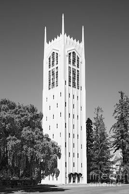 University Of The Pacific Burns Tower Print by University Icons