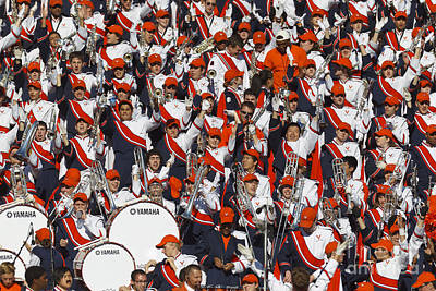 Marching Band Photograph - University Of Virginia Marching Band by Jason O Watson