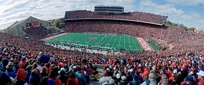 University Of Wisconsin Football Game Print by Panoramic Images