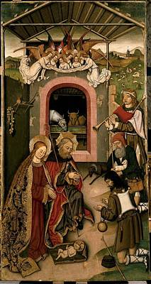 Unknown, Crib Altarpiece, 15th Century Print by Everett
