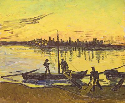 Unloaders In Arles, 1888  Print by Vincent van Gogh