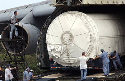Photograph - Unloading A Titan Ivb Rocket by Science Source