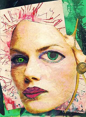 Avant Garde Mixed Media - Unsettling Gaze by Sarah Loft
