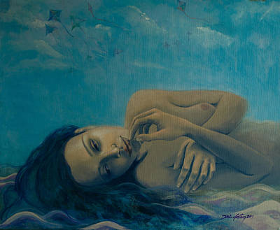 Sand Dunes Painting - Until Forever by Dorina  Costras