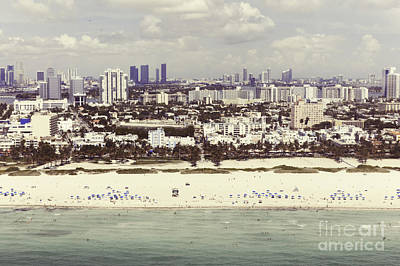 Miami Skyline Painting - Untitled 3 by Maria  Lankina