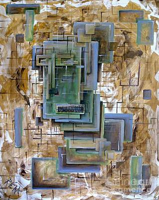 Grid Painting - Untitled 8 Tomogram by Mark Blome