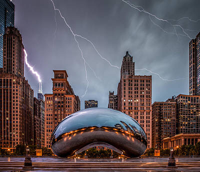 Lightning Photograph - Untitled by Cory Dewald