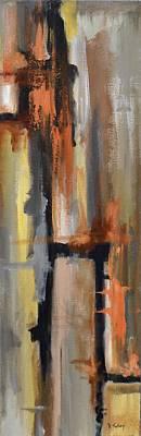 Drips Painting - Autumn Abstract by Donna Tuten